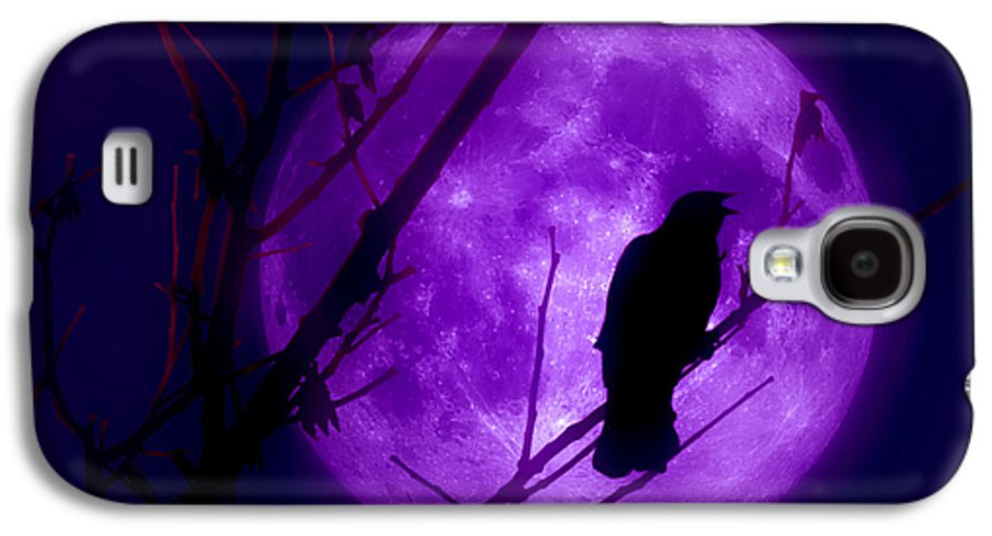 Moon Galaxy S4 Case featuring the photograph Calling Out To The Night by Kenneth Krolikowski