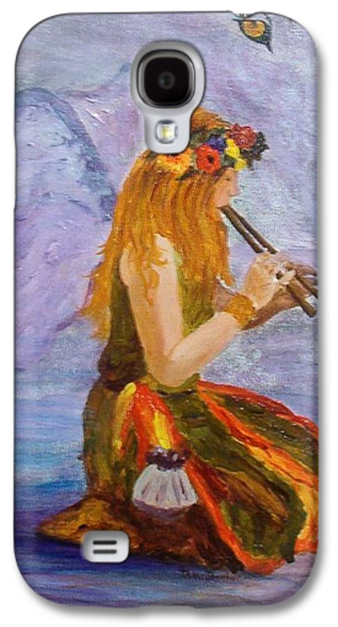 Galaxy S4 Case featuring the painting Calling The Wolf Spirit by Tami Booher
