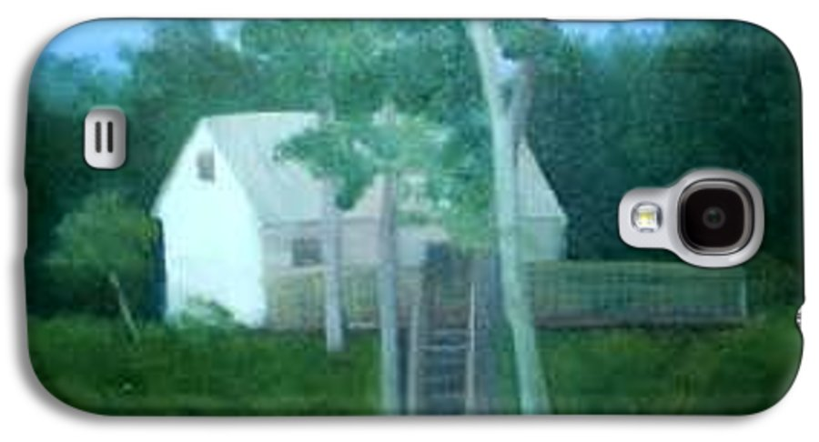 Trees Galaxy S4 Case featuring the painting Camp by Sheila Mashaw