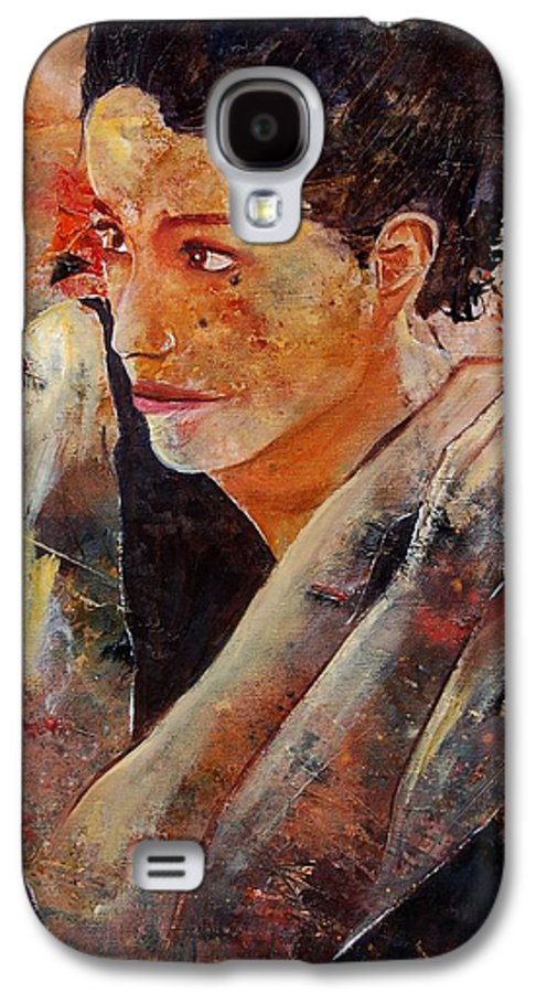 Figurative Galaxy S4 Case featuring the painting Candid Eyes by Pol Ledent