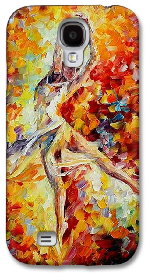 Danse Galaxy S4 Case featuring the painting Candle Fire by Leonid Afremov