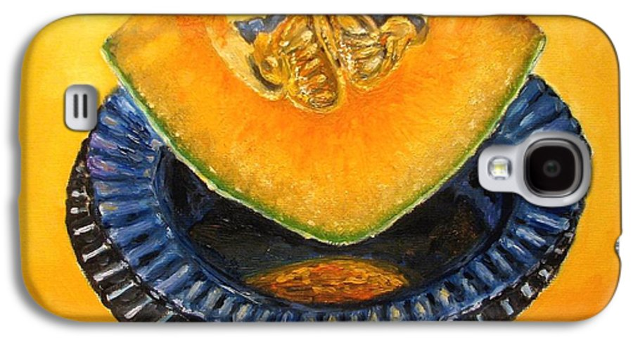Cantaloupe Galaxy S4 Case featuring the painting Cantaloupe Oil Painting by Natalja Picugina