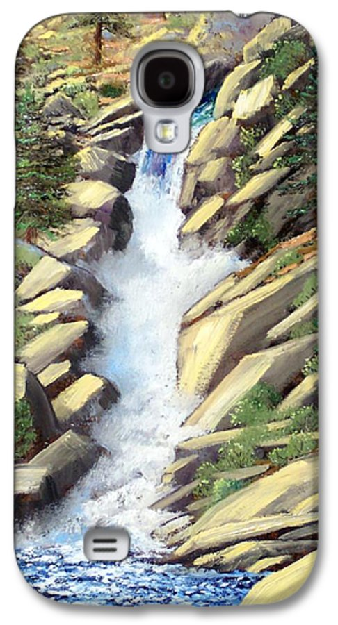 Landscape Galaxy S4 Case featuring the painting Canyon Falls by Frank Wilson