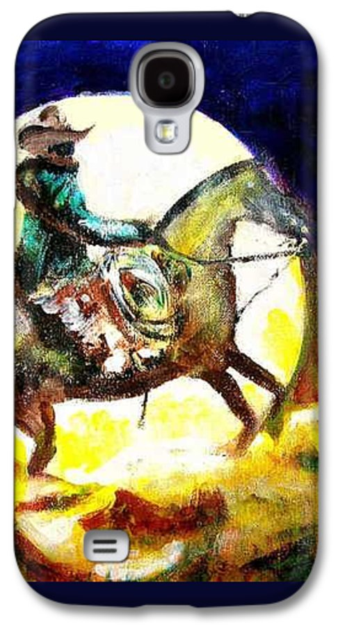 Canyon Moon Galaxy S4 Case featuring the painting Canyon Moon by Seth Weaver