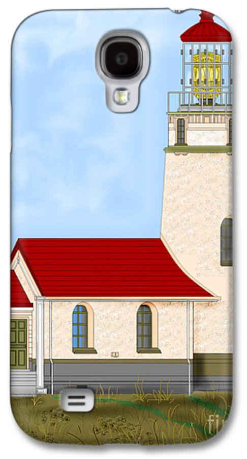 Lighthouse Galaxy S4 Case featuring the painting Cape Blanco Oregon by Anne Norskog
