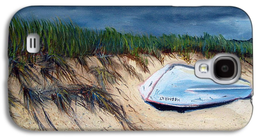 Boat Galaxy S4 Case featuring the painting Cape Cod Boat by Paul Walsh