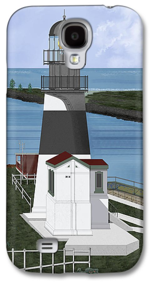 Lighthouse Galaxy S4 Case featuring the painting Cape Disappointment At Fort Canby Washington by Anne Norskog