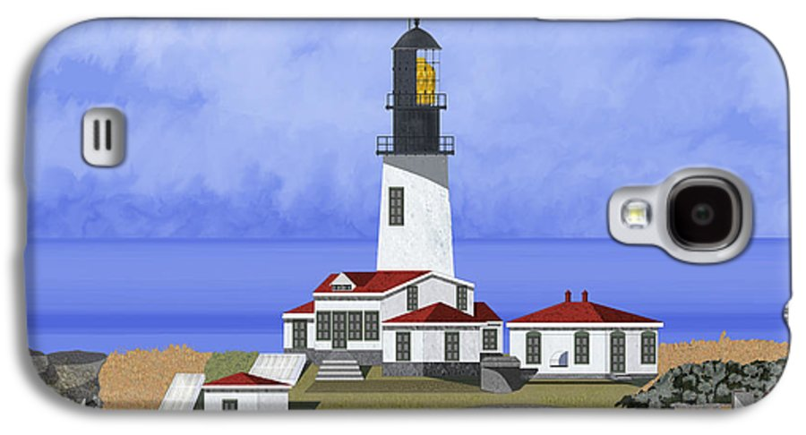 Seascape Galaxy S4 Case featuring the painting Cape Flattery Lighthouse On Tatoosh Island by Anne Norskog