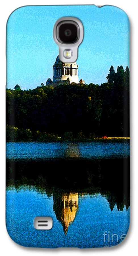 Lake Galaxy S4 Case featuring the photograph Capital Lake by Larry Keahey