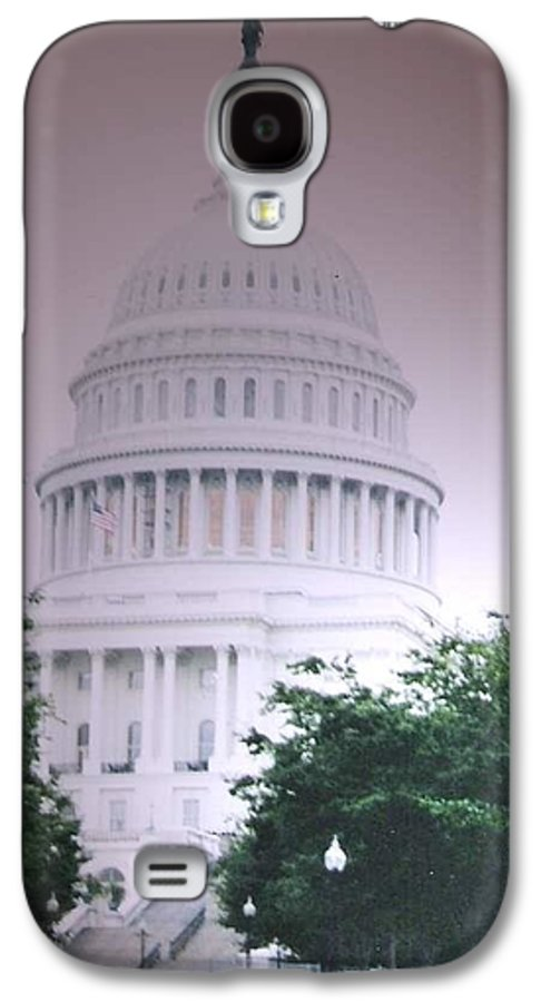 Capitol Galaxy S4 Case featuring the photograph Capitol In Pink by Pharris Art