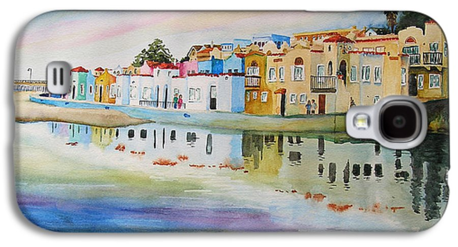 Capitola Galaxy S4 Case featuring the painting Capitola by Karen Stark