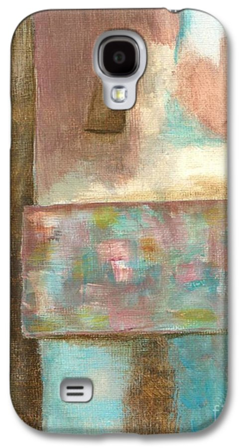 Abstract Galaxy S4 Case featuring the painting Captive Dreamer by Itaya Lightbourne