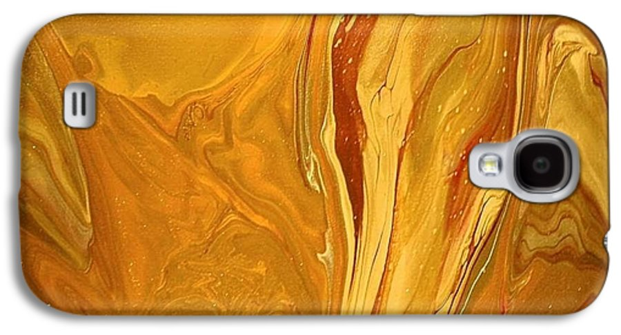 Abstract Galaxy S4 Case featuring the painting Caramel Delight by Patrick Mock
