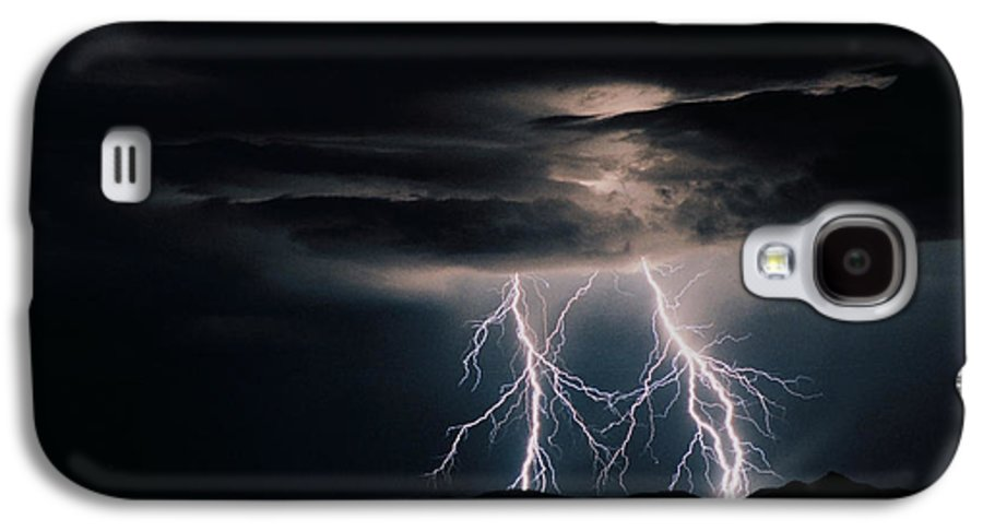 Arizona Galaxy S4 Case featuring the photograph Carefree Lightning by Cathy Franklin