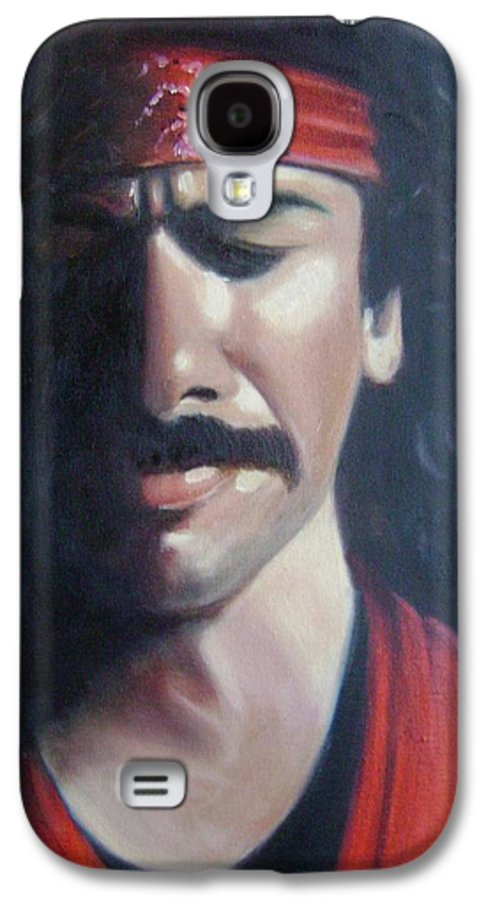 Santana Galaxy S4 Case featuring the painting Carlos Santana by Toni Berry