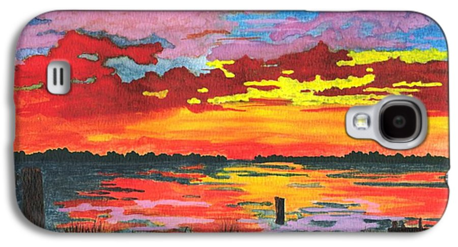 Original Painting Galaxy S4 Case featuring the painting Carolina Sunset by Patricia Griffin Brett