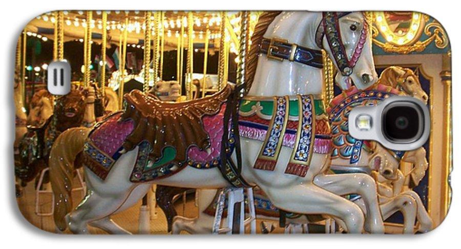 Carosel Horse Galaxy S4 Case featuring the photograph Carosel Horse by Anita Burgermeister