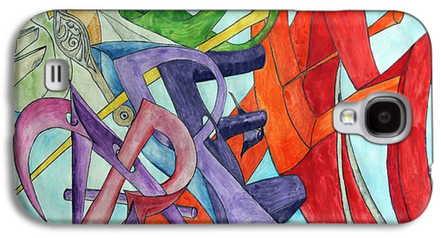 Carpe Diem Galaxy S4 Case featuring the painting Carpe Diem by Helmut Rottler
