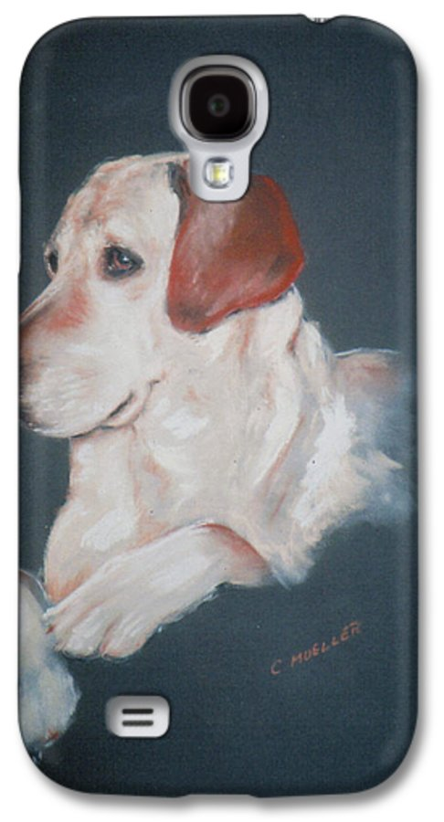 Dog Galaxy S4 Case featuring the painting Casey by Carol Mueller