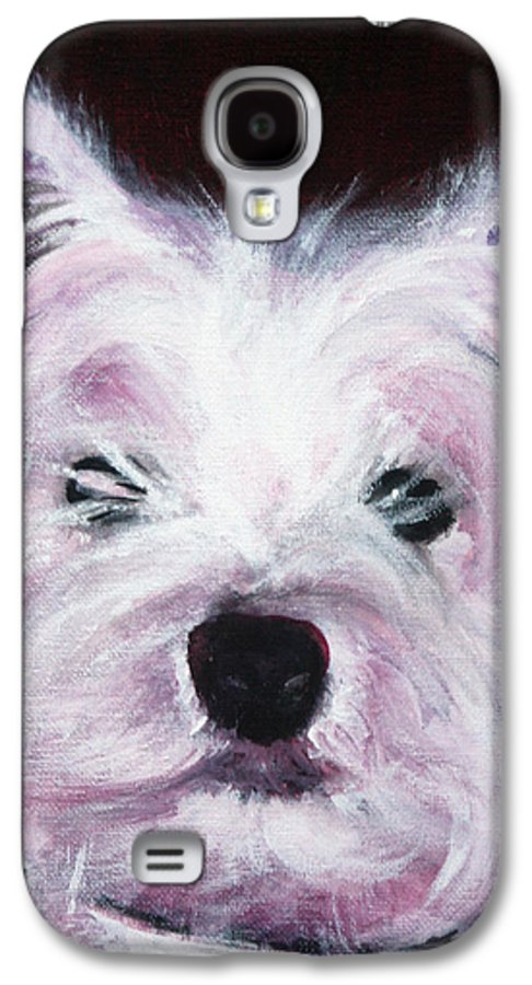Dog Galaxy S4 Case featuring the painting Cassie by Fiona Jack