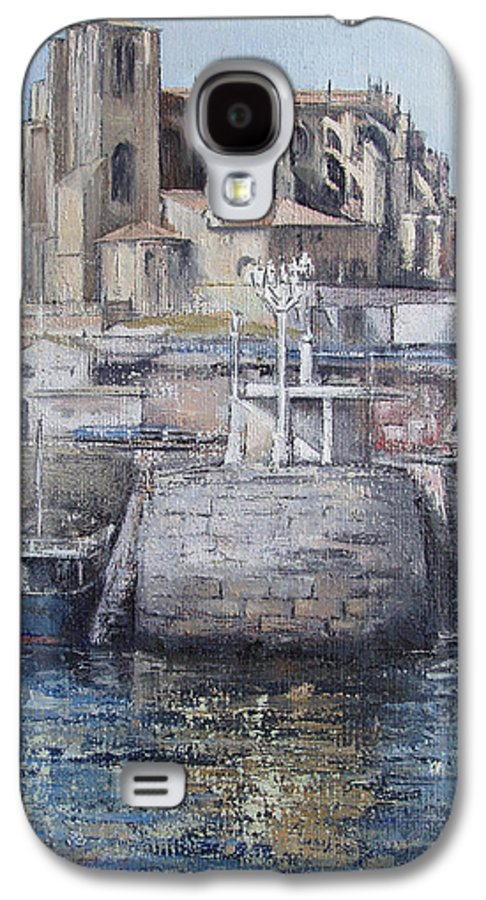 Castro Galaxy S4 Case featuring the painting Castro Urdiales by Tomas Castano