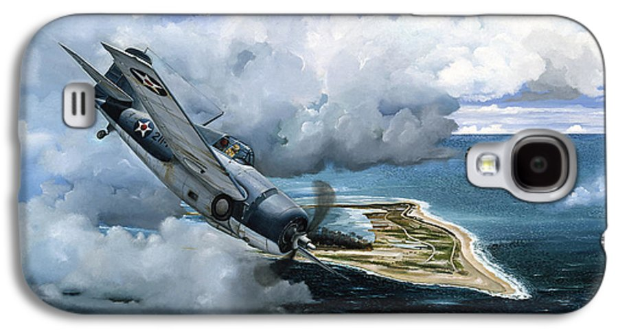 Military Galaxy S4 Case featuring the painting Cat And Mouse Over Wake by Marc Stewart