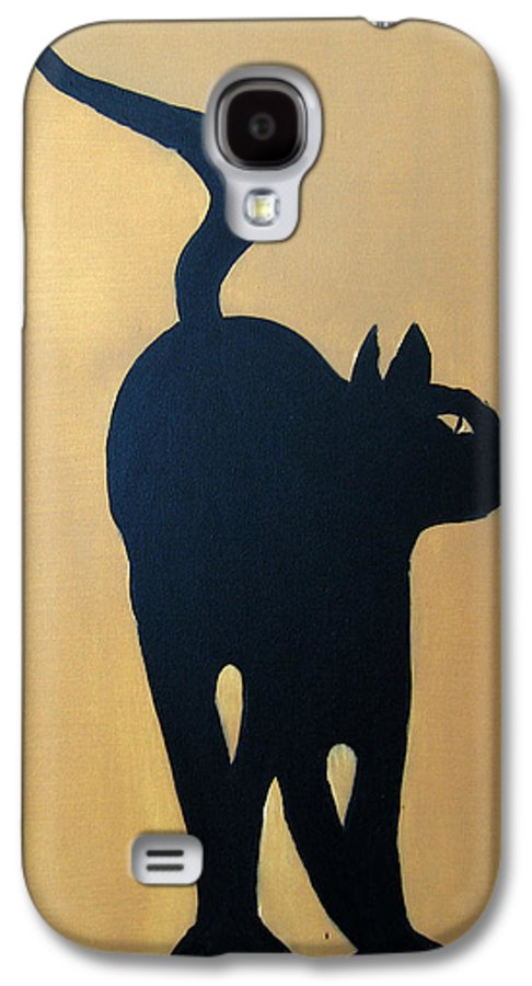 Cat Galaxy S4 Case featuring the painting Cat Dance..... Optical Illusion by Patrick Trotter