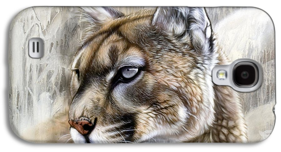 Acrylic Galaxy S4 Case featuring the painting Catamount by Sandi Baker
