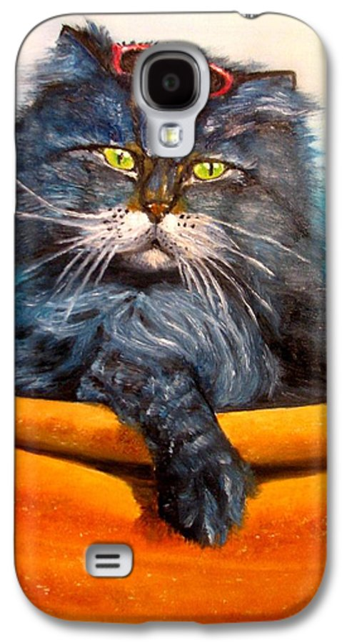 Cat Galaxy S4 Case featuring the painting Cat.go To Swim.original Oil Painting by Natalja Picugina