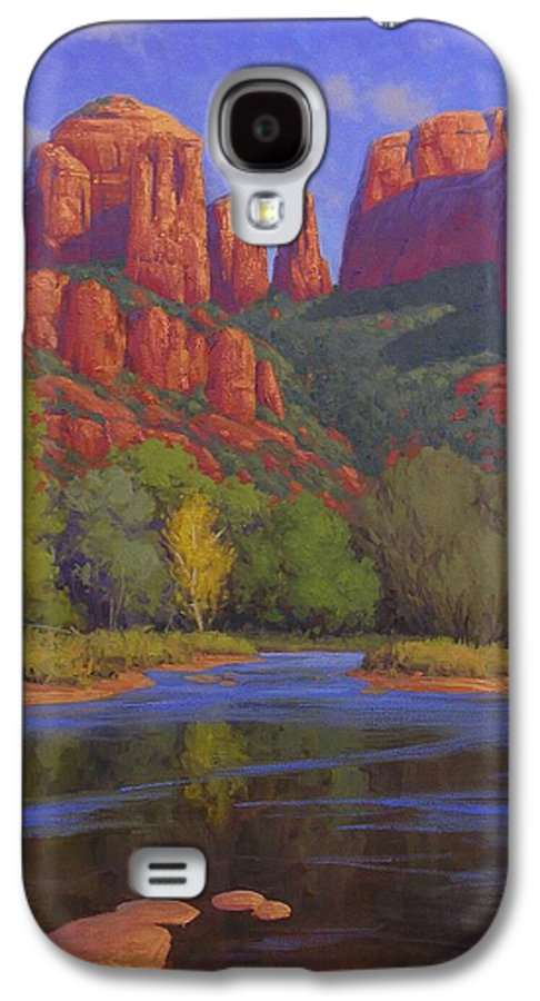 Sedona Galaxy S4 Case featuring the painting Cathedral Morning by Cody DeLong