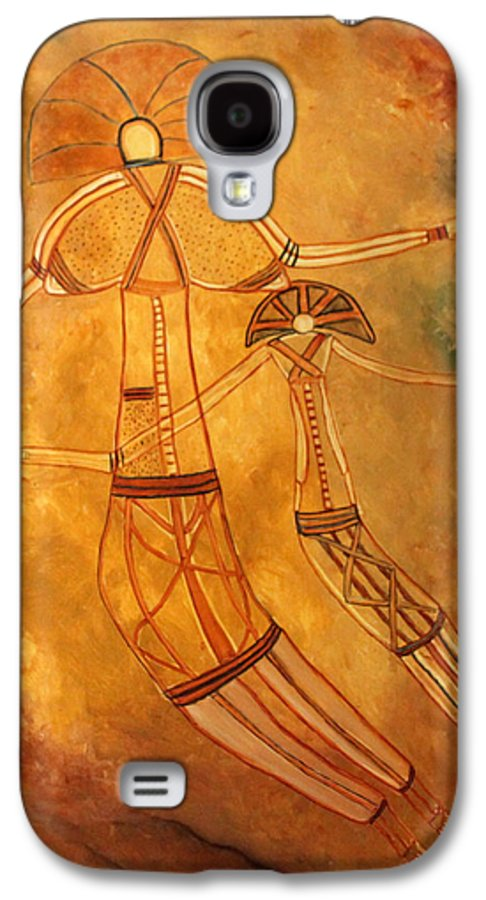 Cave Painting Galaxy S4 Case featuring the painting Cave Love by Pilar Martinez-Byrne