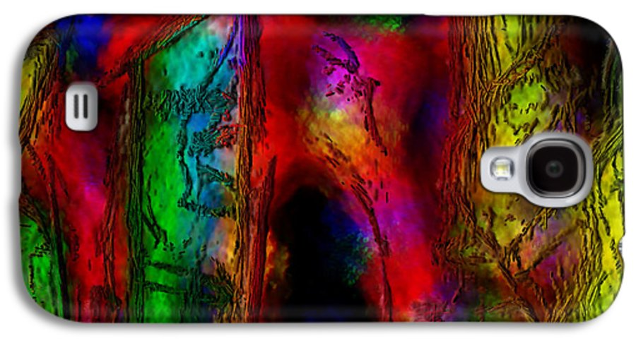 Abstract Galaxy S4 Case featuring the painting Caverns Of The Mind by Dee Flouton