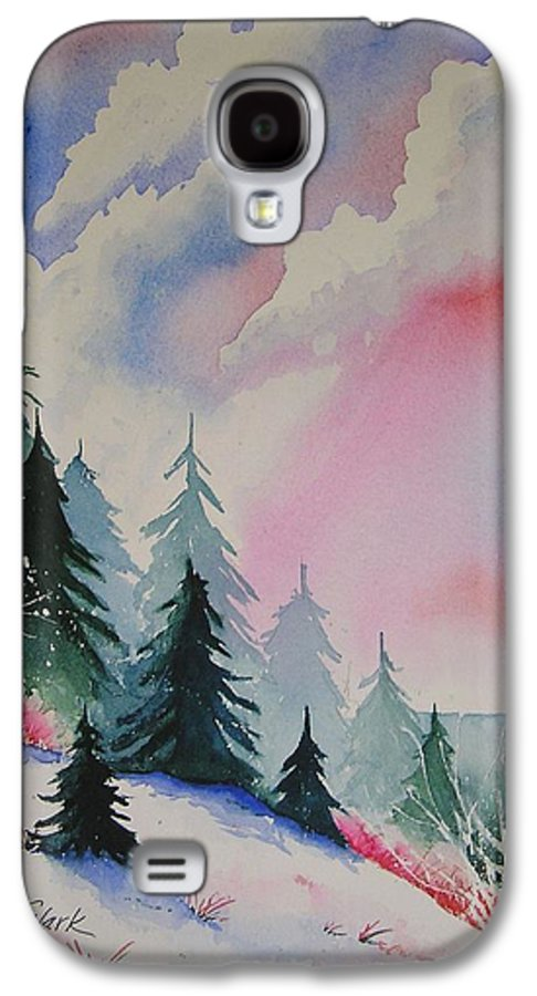 Snow Galaxy S4 Case featuring the painting Cedar Fork Snow by Karen Stark