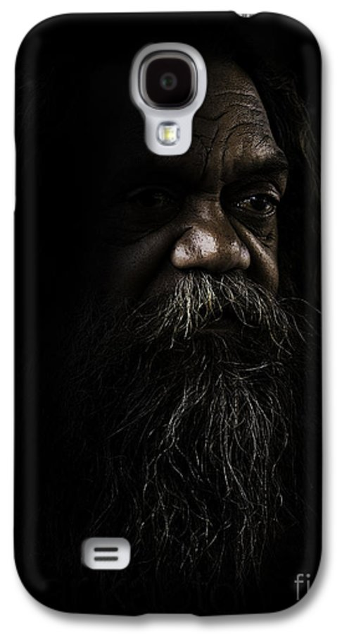Fullblood Aborigine Galaxy S4 Case featuring the photograph Cedric In Shadows by Sheila Smart Fine Art Photography