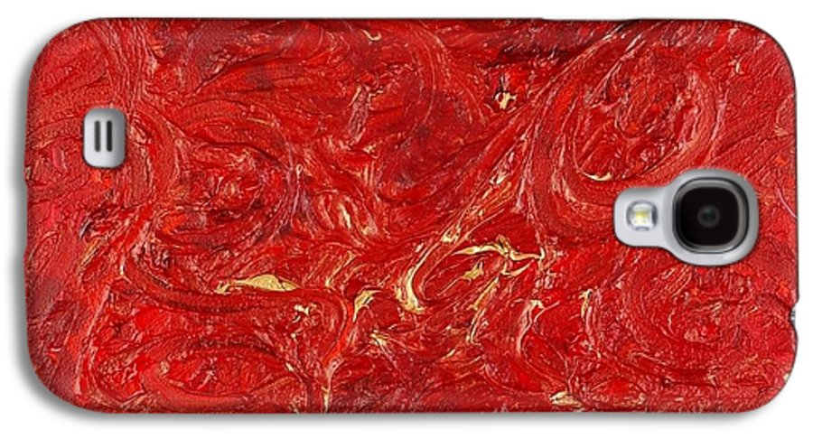 Red Galaxy S4 Case featuring the painting Celebration by Nadine Rippelmeyer