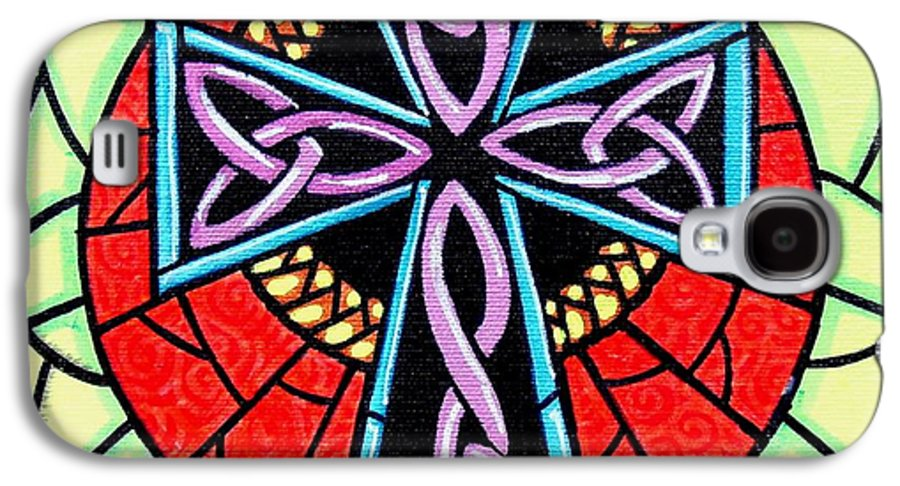 Celtic Galaxy S4 Case featuring the painting Celtic Cross by Jim Harris