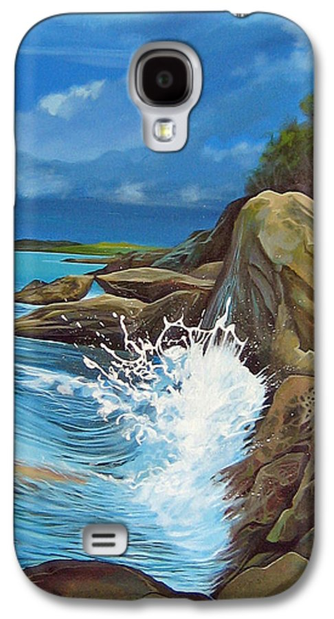 Ocean Galaxy S4 Case featuring the painting Cerulean by Hunter Jay