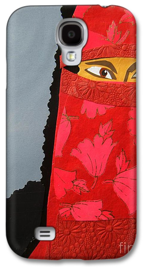 Woman Galaxy S4 Case featuring the mixed media Chador by Debra Bretton Robinson