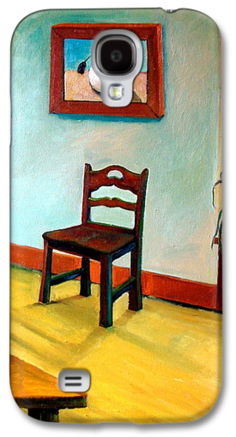 Apartment Galaxy S4 Case featuring the painting Chair And Pears Interior by Michelle Calkins