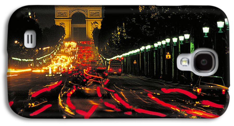 France Galaxy S4 Case featuring the photograph Champs Elysee In Paris by Carl Purcell