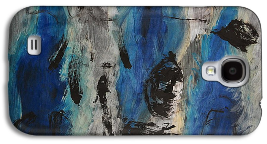 Abstract Galaxy S4 Case featuring the painting Chaos by Lauren Luna