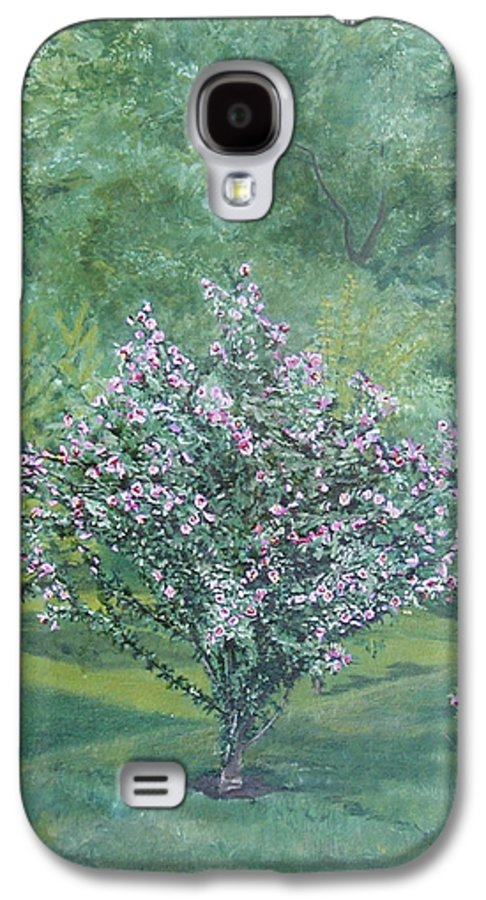 Blooming Galaxy S4 Case featuring the painting Charles Street by Leah Tomaino