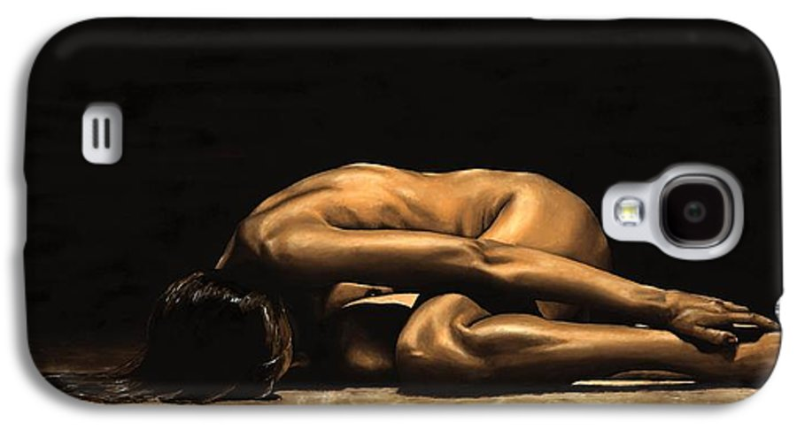 Nude Galaxy S4 Case featuring the painting Chastity by Richard Young