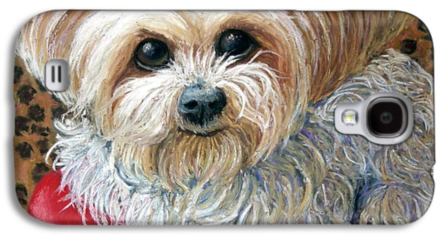 Dog Galaxy S4 Case featuring the painting My Friend by Minaz Jantz