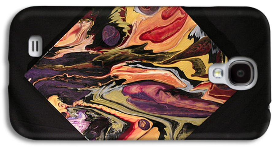 Abstract Galaxy S4 Case featuring the painting Cherish The Day by Patrick Mock