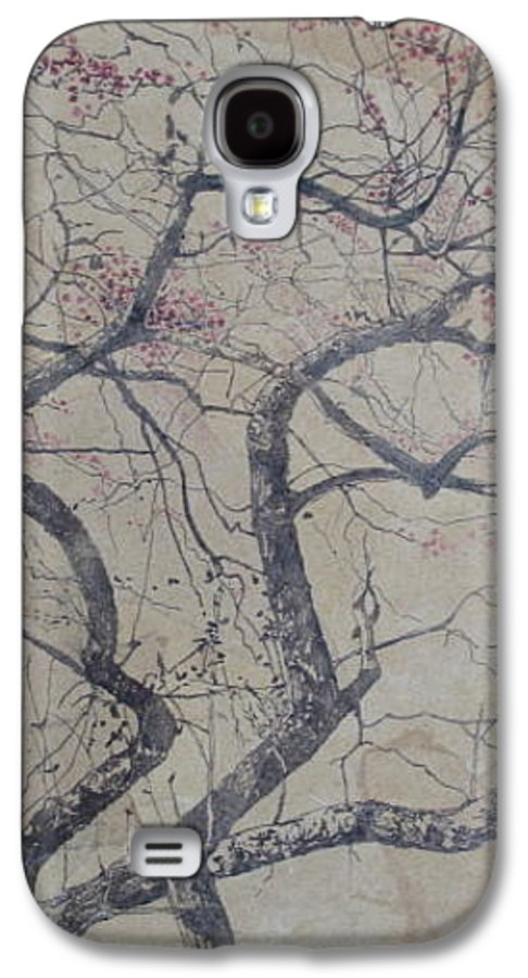 Crab Apple Galaxy S4 Case featuring the painting Prairie Fire by Leah Tomaino