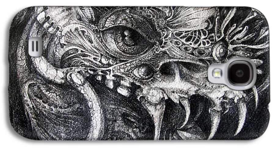 Galaxy S4 Case featuring the drawing Cherubim Of Beasties by Otto Rapp