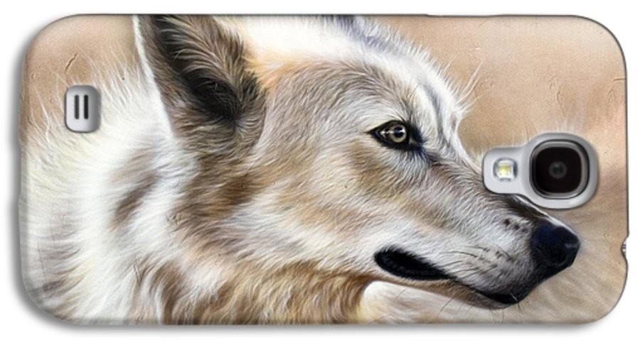 Acrylic Galaxy S4 Case featuring the painting Cheyenne by Sandi Baker
