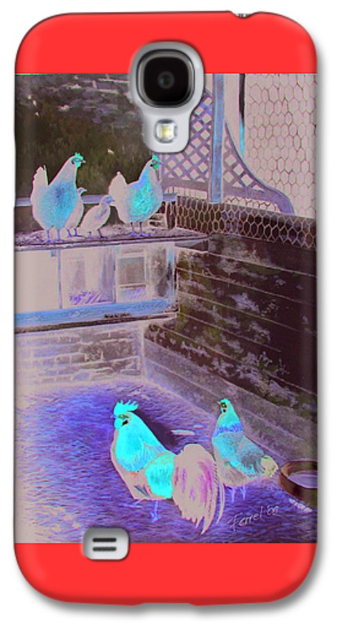 Far Galaxy S4 Case featuring the painting Chicken Coop by Ferrel Cordle