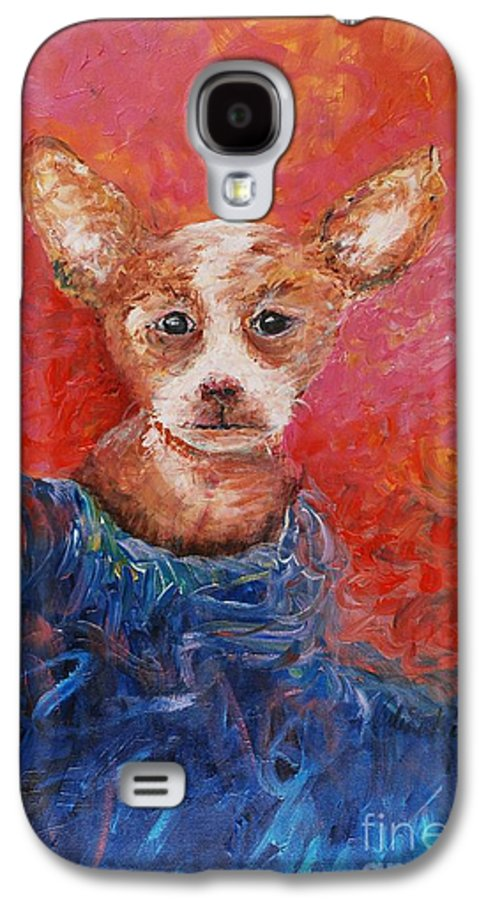 Dog Galaxy S4 Case featuring the painting Chihuahua Blues by Nadine Rippelmeyer